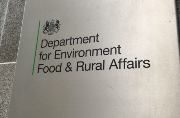 Photo of the Defra sign on the front of the building