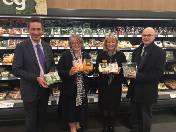 Environment Minister Therese Coffey in Sainsbury's supermarket