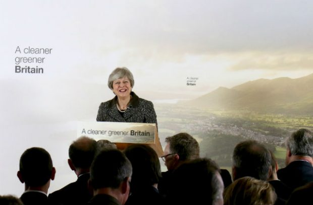 Prime Minister Theresa May launching the 25 Year Environment Plan at the London Wetland's Centre