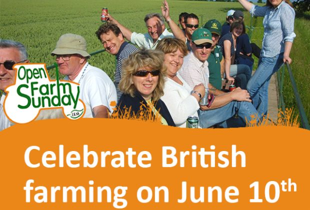 A picture of people enjoying a farm on Open Farm Sunday