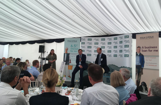 George Eustice speaking at the Royal Cornwall Show