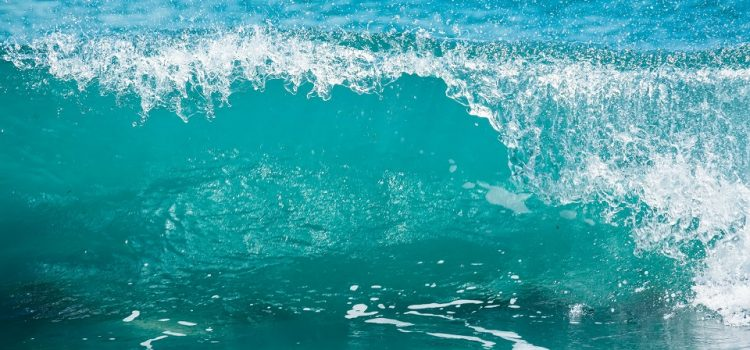 image of blue wave