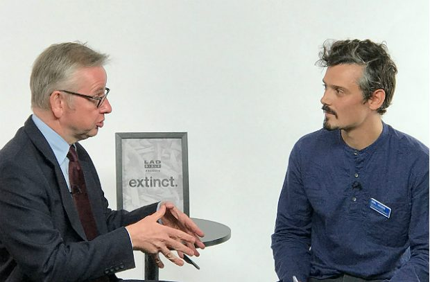 Michael Gove talks to Matthew Lowton from ZSL for LadBible.