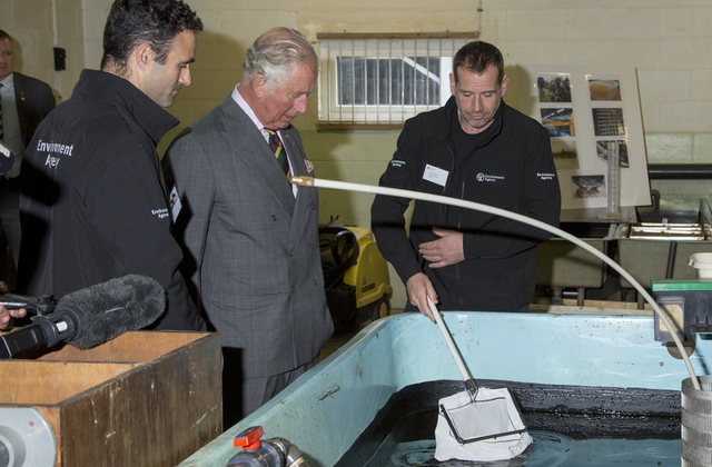 Prince Charles at salmon centre