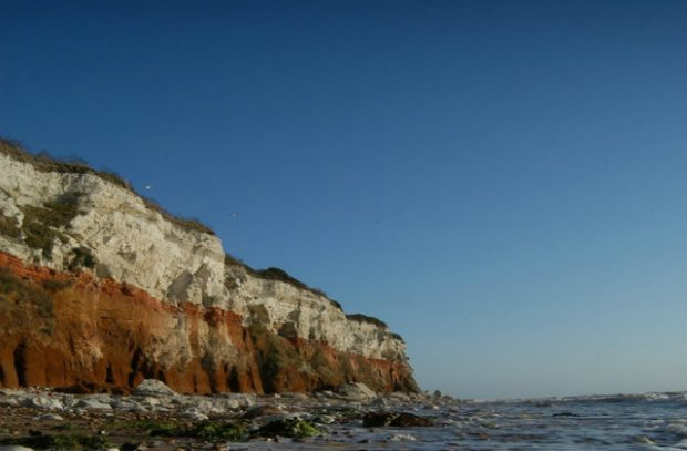 Picture of a coastside hill that is eroding.