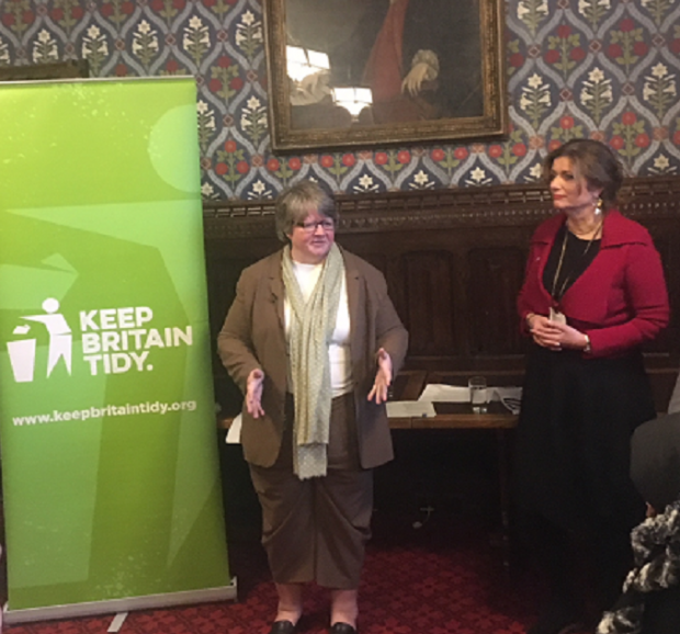 Environment Minister Therese Coffey at the Great British Spring Clean '19 launch
