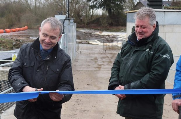 "Minister Goodwill cuts the ribbon on new fish passage scheme The Fisheries Minister Robert Goodwill yesterday (7 March) opened a new project to improve salmon migration on the River Ouse. The story received positive online and broadcast media coverage from outlets including BBC Radio York, the York Press and the Yorkshire Post. The new fish pass at Linton-on-Ouse will enable salmon and other migratory fish, including trout and eels, to bypass a weir which has been an obstacle to their spawning grounds. The project, which forms part of a wider hydropower station scheme, also presents a number of benefits for the local community - providing a source of green energy and a new recreational facility for paddlers and canoeists. This scheme includes a new fish-friendly hydropower turbine, whose diameter of 5m (15ft) makes it the widest in the world. Fisheries Minister Robert Goodwill said: ""I was delighted to open the Linton Lock fish pass today and I would like to thank our partners for their work on finding solutions to contribute to the recovery of salmon stocks. ""It is only through continuing to take concerted action, and through the co-operation of others, that we will successfully protect this iconic fish for future generations."" The scheme is a partnership between the Canal and Rivers Trust, Linton Hydro Ltd, British Canoeing, Sport England, Nun Monkton Estate and Environment Agency. Pat O'Brien, Environment Agency fisheries technical specialist, said: ""This is a fantastic partnership scheme that provides many positive environmental outcomes. ""The hydropower station offers a source of green energy, it provides a new recreational facility for canoeists at a location close to York and fish passage for all species at no cost to the public purse."""