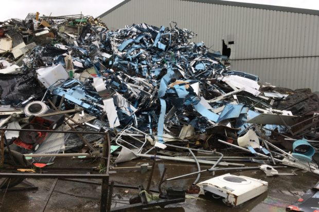 Image of a pile of electrical rubbish
