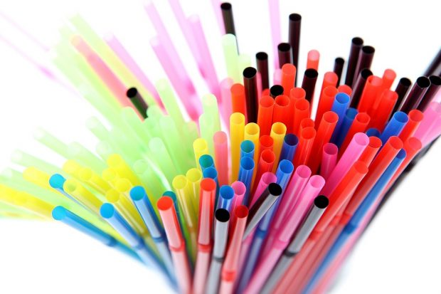 An image of brightly coloured plastic straws