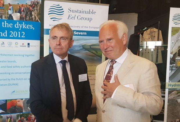 Fisheries Minister Robert Goodwill and Chair of Sustainable Eel Group Andrew Kerr
