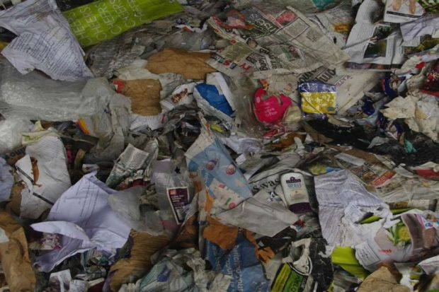 Image of crumpled waste laid over the floor