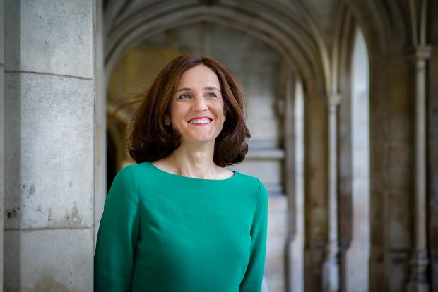 The Environment Secretary Theresa Villiers smiling for a photograph