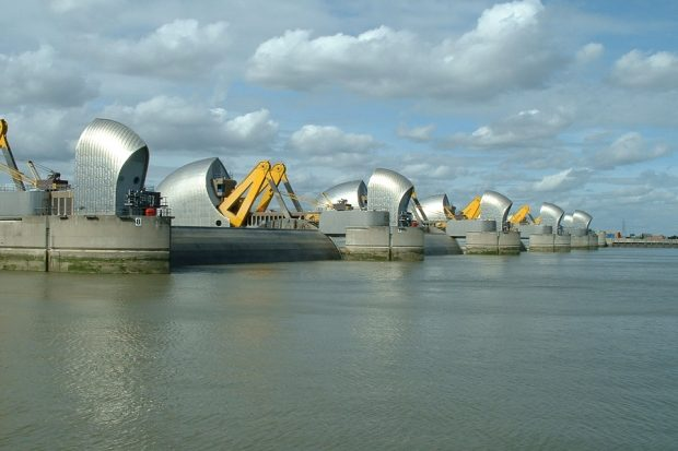 An images of the Thames Barrier