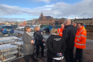 Minister Pow and EA Chair Emma Howard Boyd mark launch of £40m to upgrade Great Yarmouth flood defences