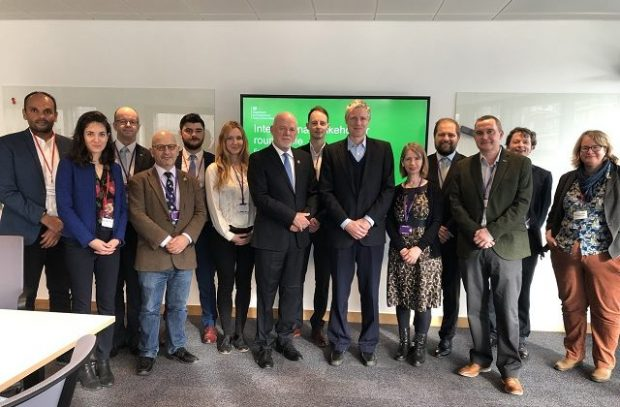 Minister Goldsmith with environmental and marine stakeholders.