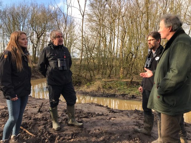 Tony Juniper in conversation with newt conservationists