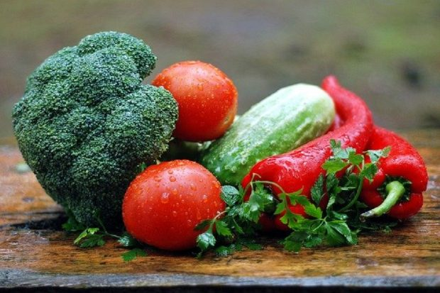 An image of vegetables on a table.