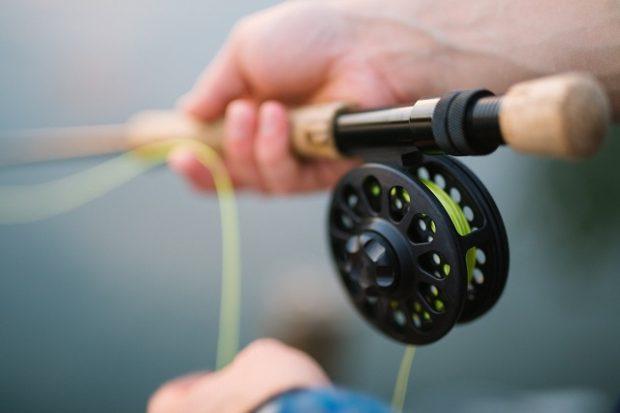 A fly fishing rod.