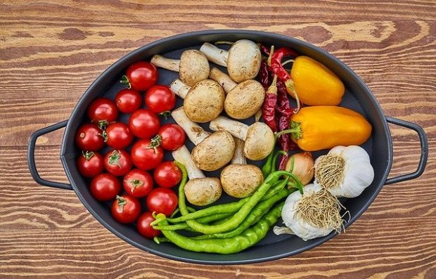 Image of vegetables in a casserole dish