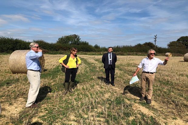 Environment Minister Rebecca Pow and Natural England Chair Tony Juniper visited Warblington Farm in Havant
