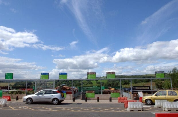 Image of a waste recycling centre